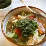 Summer Minestrone with Walnut Pesto | Zestful Kitchen