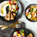 Summer Salad with Homemade Labneh