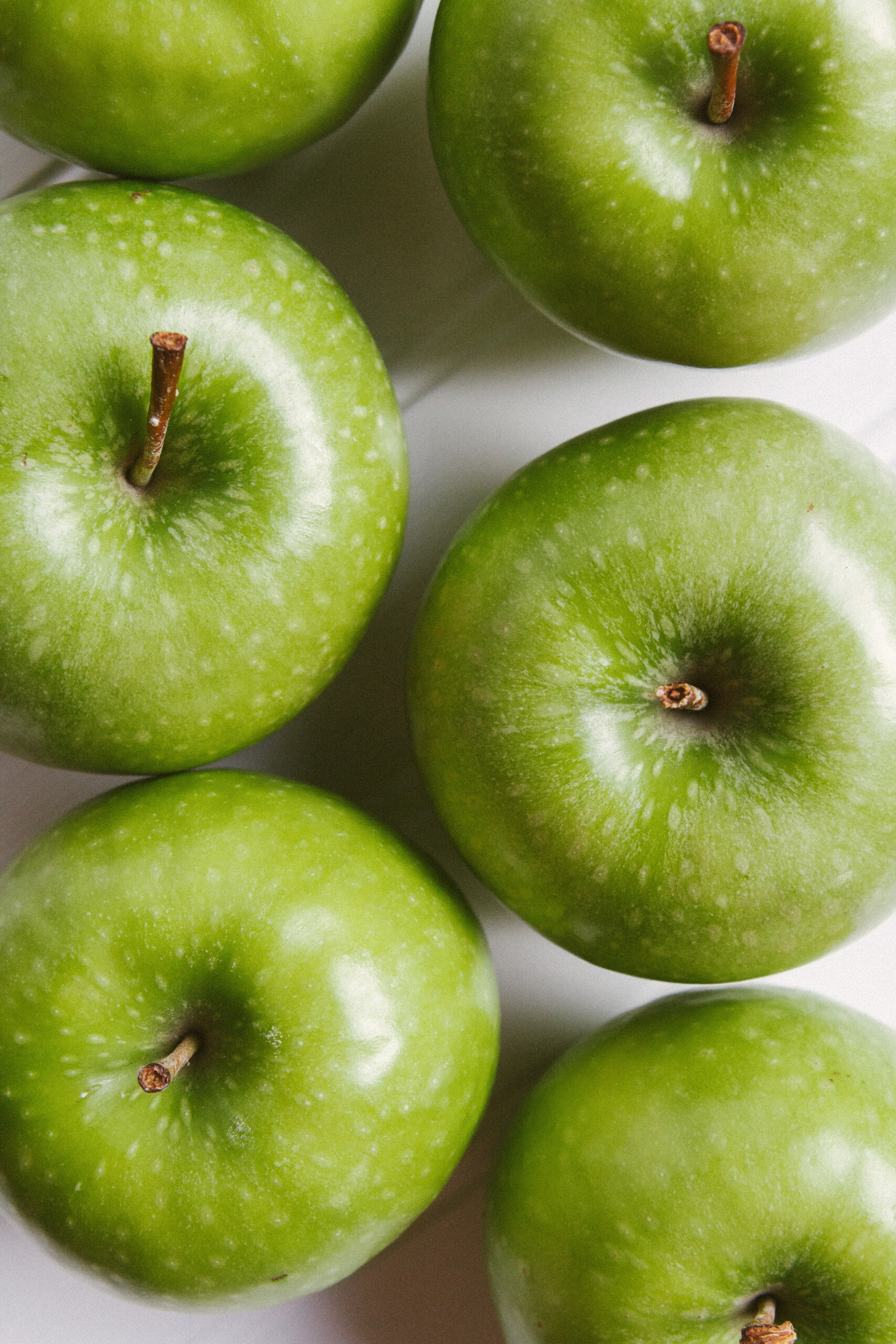 Up close photo of green apples