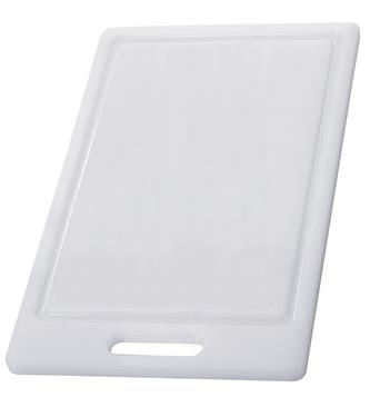 Photograph of white plastic cutting board (from RVupgrades)