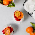 Mini Cardamom Pavlova with Cranberry Curd and Spiced Citrus