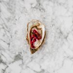 Oysters on the Half Shell with Beet Mignonette