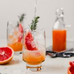 Naturally Sweetened Grapefruit Rosemary Soda