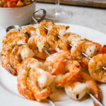 Lime Shrimp with Grilled Peach Pico