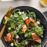 Salmon & Spinach French Lentil Salad