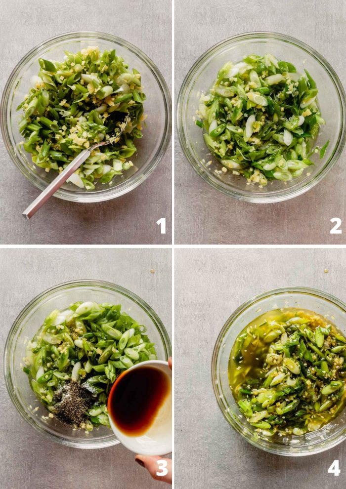 gallery of 4 images showing the step-by-step process of making the recipe