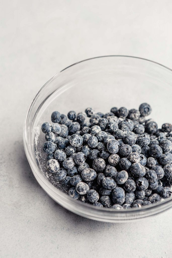 blueberries coated in flour