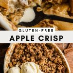 Pinterest graphic for healthy gluten-free apple crisp recipe