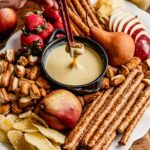 Dreamy White Chocolate Eggnog Fondue