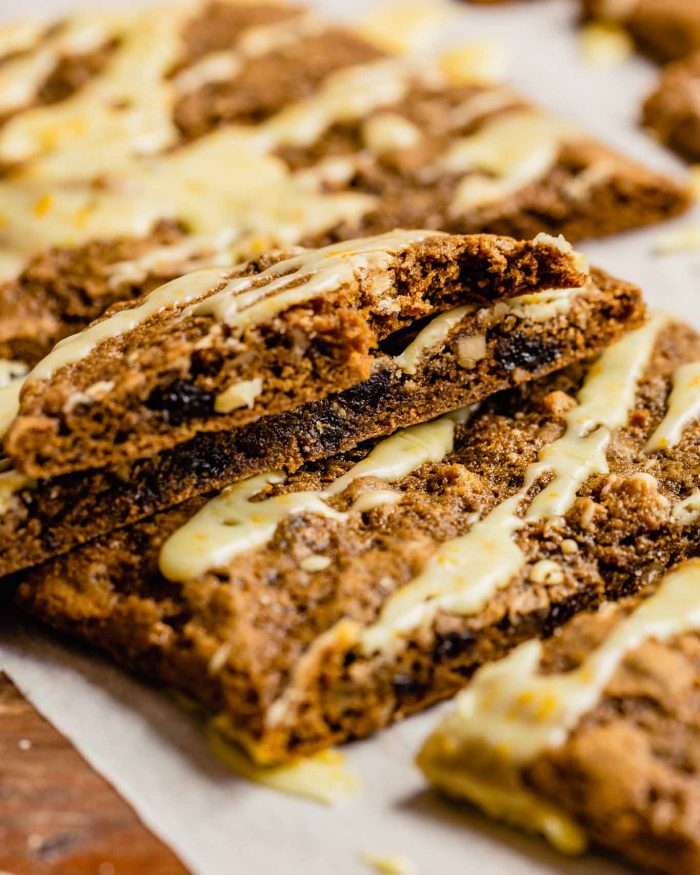 brown cookie bar with a bite taken out