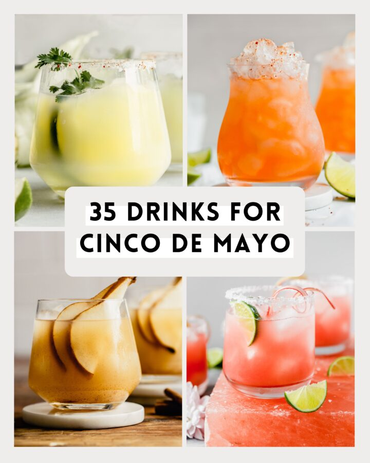 collage of cocktail images with text overlay
